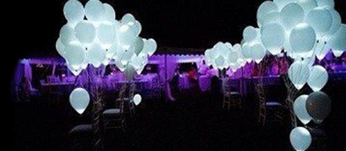 decoracion boda globos led