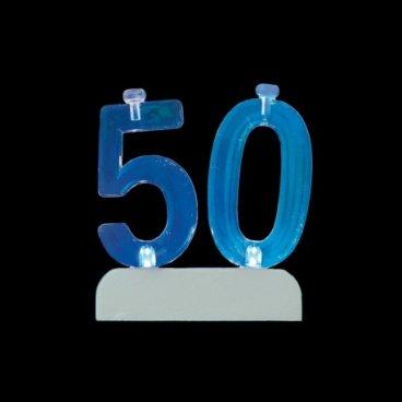 4 Velas con 50 Intermitente
