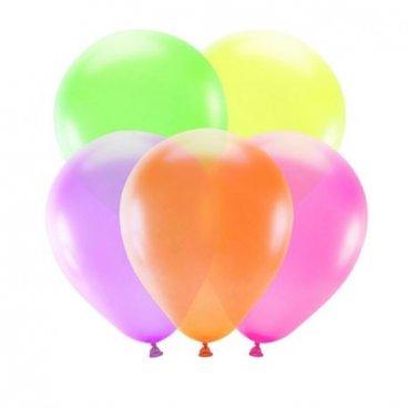 5 Globos en Color Neón
