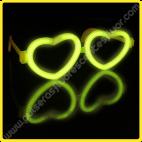 Gafa Fluorescente Corazón Individuales