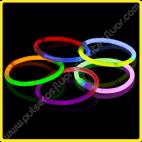 Pulseras Fluorescentes Bicolor