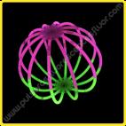 Esferas Fluorescentes Bicolor