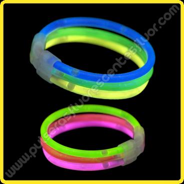 Pulseras Fluorescentes Triples (33 uds)