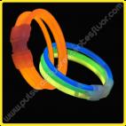 Pulseras Fluorescentes Triples