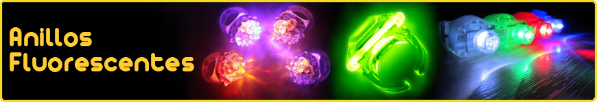 anillos fluorescentes luminosos led