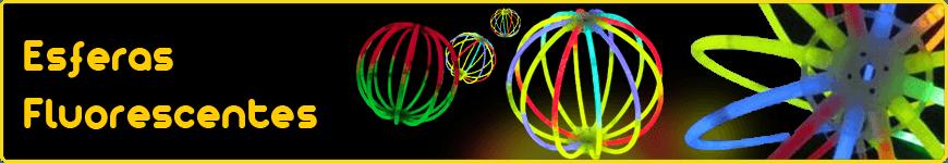esferas fluorescentes luminosas