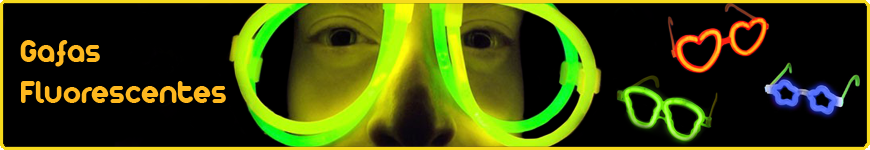 gafas fluorescentes luminosas