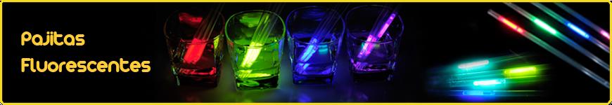pajitas fluorescentes luminosas