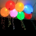 Globos que brillan en la oscuridad con luz